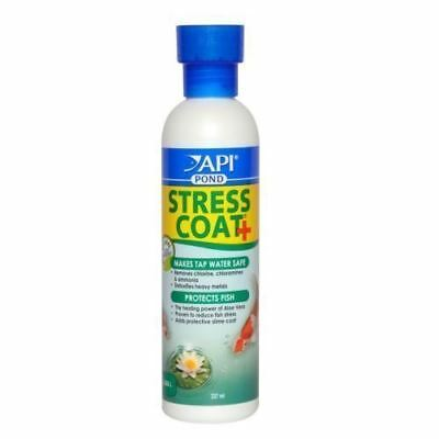 API Pond Stress Coat 473ml Tap Water Conditioner Dechlorinator Protects Fish