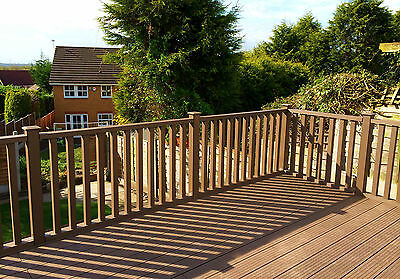 Composite Clarity Balustrade Sample Pack Wood Plastic Composite Ecoscape UK