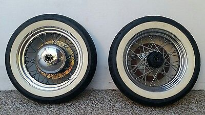 """Harley Davidson 16"""" Rims with White Wall Tyres"""