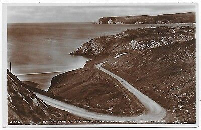 Vintage Postcard. R.P. Hairpin Bend Near Durness.  Unused.  Ref:77382
