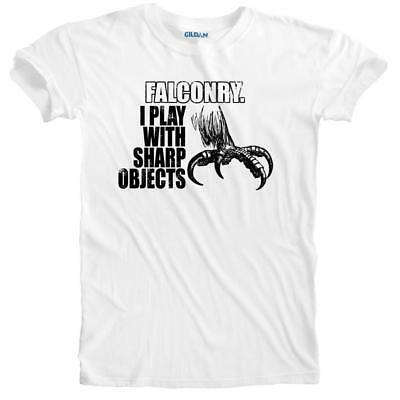 Humorous Falconry Bird Prey I Play With Sharp Objects T-shirt Small to 5XLarge