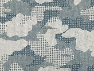 """Denim jeans fabric, 100% cotton, camouflage military pattern, 152cm/60"""" wide"""