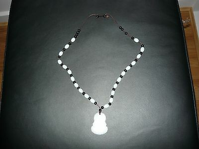 Chinese made Budda neclace in white collour