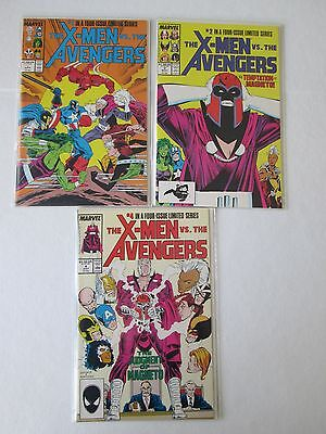 X-Men vs. The Avengers Limited Series #1, 2 and 4 (1987 – NM) Silvestri