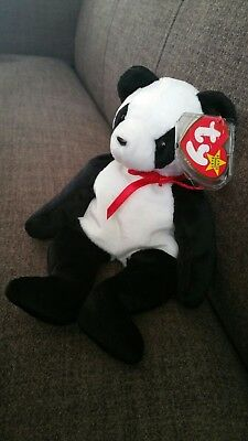 TY Beanie Babies. Fortune the Bear. Rare date error. Mint Condition.