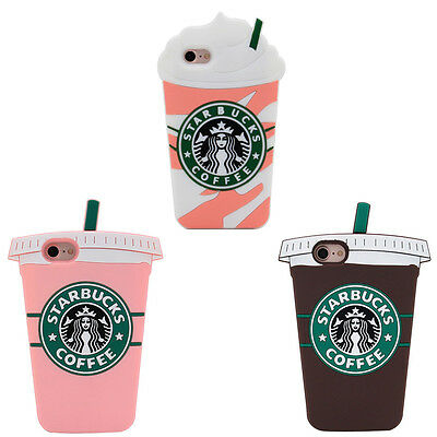 Starbucks 3D Phone Case For iPhone X XS Max XR SE 5 6 7 8 Plus Samsung S6 S7 S8