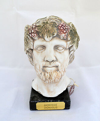 Ancient Greek Dionysus Dionysos God of winemaking sculpture statue bust artifact