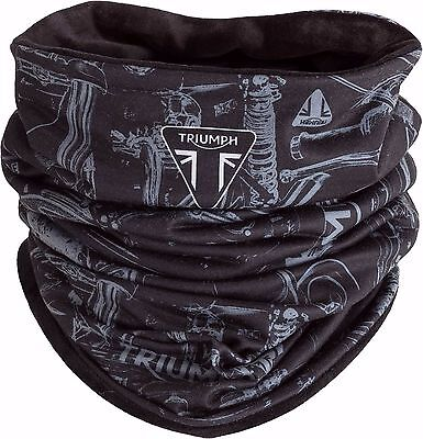 GENUINE Triumph Motorcycles Black Fleece Lined Winter Neck Tube NEW 2017