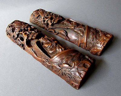 Very Beautiful Chinese Wood Carved Paper Weights