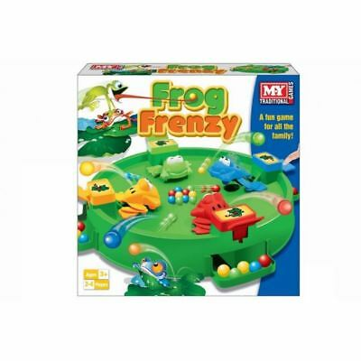 New Frog Frenzy Board Game Children Kids Toy Game Gift Family Fun 4 Players
