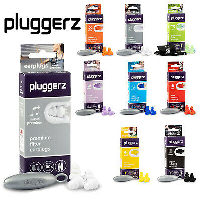 Pluggerz Ear Plugs Sleep, Music, Swimming, Shooting, Flying, Travel Adult & Kids