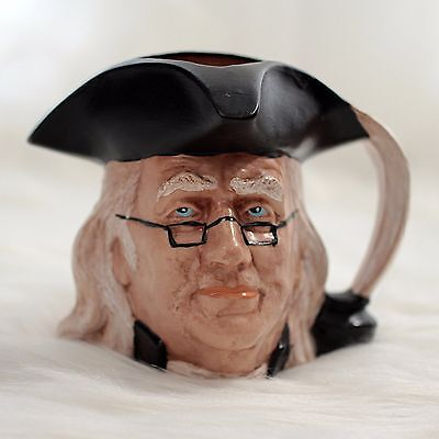 Byron Molds Benjamin Franklin Head Mug Jug Coffee Cup Planter Vintage 1970s Toby