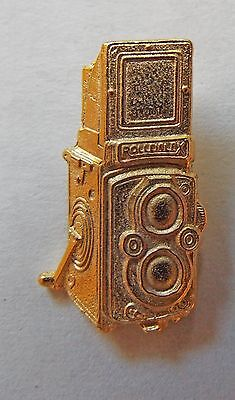 Rolleiflex Camera Tie Tack Gold Plated