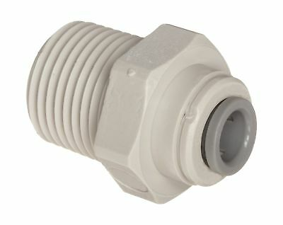 "John Guest Acetal Copolymer Tube Fitting Straight Adaptor 1/4"" Tube OD x 1/4""..."