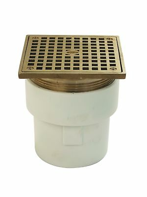 """Zurn FD2211-PVC-ST Adjustable Floor Drain with Square Top PVC Body 3"""" x 4"""" So..."""