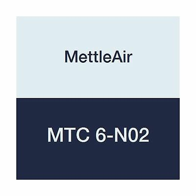 """MettleAir MTC 6-N02 Push to Connect Straight Male Fitting 6 mm OD 1/4"""" NPT Th..."""