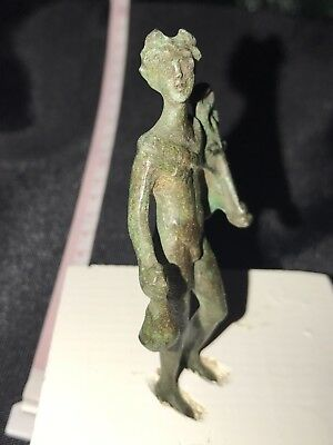Ancient Roman Bronze Statuette Of Mercury , 2nd Century AD