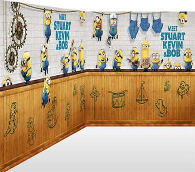 Sharp-witted Minions 3D Full Wall Mural Photo Wallpaper Printing Home Kids Decor