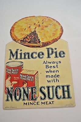 Vintage NONE SUCH MINCE Pie MEAT Advertisement Label Card