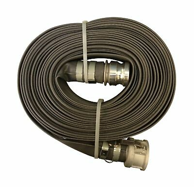 """Goodyear EP Spiraflex Pliovic Compound Discharge Hose Assembly Gray 2"""" Male X..."""