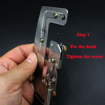 Fishing Hook Line Tier Semi Automatic Hook Tie Machine Fish Tackle Device Tool