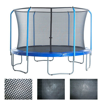 Trampoline Enclosure Safety Net Fits For 8 10 12 14 FT Fence Round Replacement
