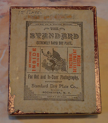Vintage Standard Dry Plate Company Photography Dry Plate Glass Negatives Used