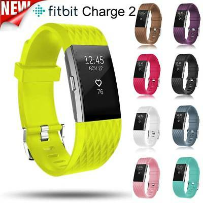 Genuine Strap Replacement Watchband Sports Silicone Band For Fitbit Charge 2