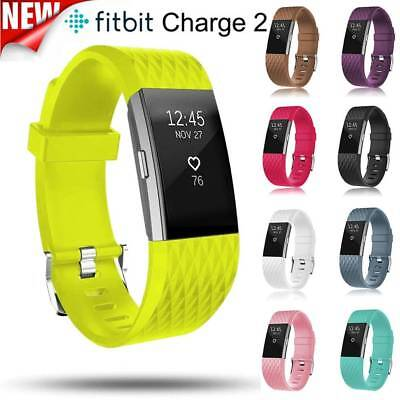 Soft Strap Replacement Watchband Sports Silicone Band For Fitbit Charge 2