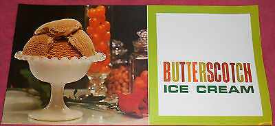 Vintage Butterscotch Ice Cream Advertising Printed in USA Poster 9 X 18