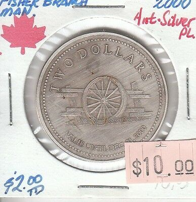 Fisher Branch Manitoba Canada - Trade Dollar - 2000 Antique Silver Plated