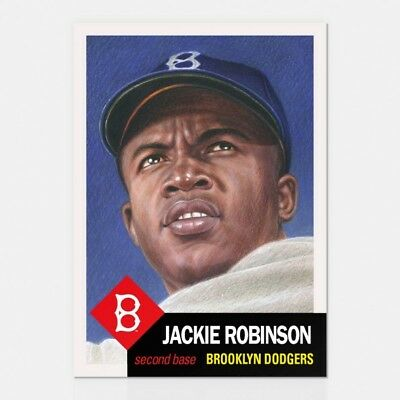 2018 Topps Living Set Jackie Robinson 42 Brooklyn Dodgers Retro 1953 Style