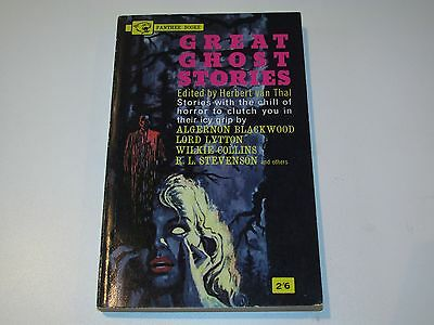 Great Ghost Stories Herbert Van Thal 1964 Paperback Book Horror Pulp Sci-Fi