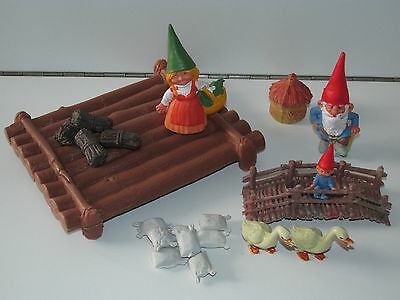 DAVID THE GNOME LOT OF FIGURES GEESE RAFT & ACCESSORIES - BRB STARTOYS 1980s