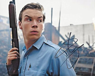 ACTOR WILL POULTER SIGNED 'DETROIT' MOVIE 8x10 PHOTO W/COA KRAUSS THE REVENANT