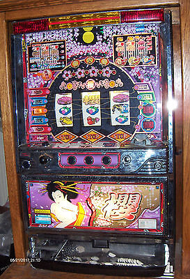 Pachislo Skill Stop Japanese Magic Bar Slot Machine /tokens /  Manual /