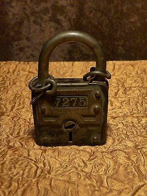 Antique Collectible Rare Yale Junior 7275 Made In Germany Iron Pad Lock