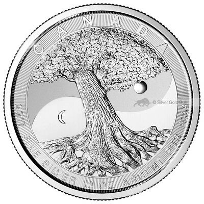 10 oz 2017 Royal Canadian Mint Tree of Life Silver Coin