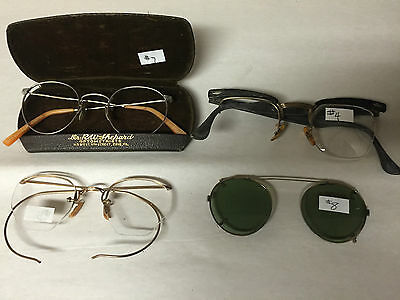 Mixed Lot of 4 Eyeglasses Spectacles Sunglasses & Case