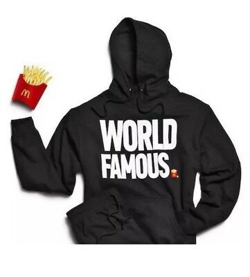 McDonalds World Famous New Hoodie Hoody Sweater Small S McDELIVERY Uber Eats