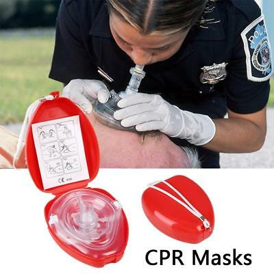 1 Pocket CPR mask in hard case. Mask w/O2 with Gloves Hot Sale