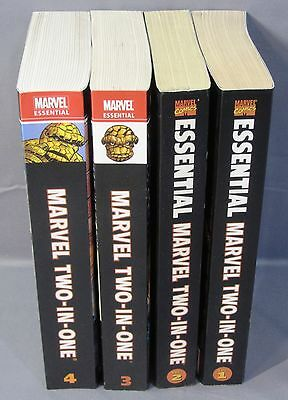 ESSENTIAL MARVEL TWO-IN-ONE Volumes 1 2 3 4 (Reprints 1-100) TPB Thing