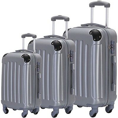 3 Piece Hardshell Spinner Luggage Travel Set Bag ABS Trolley Suitcase Lock