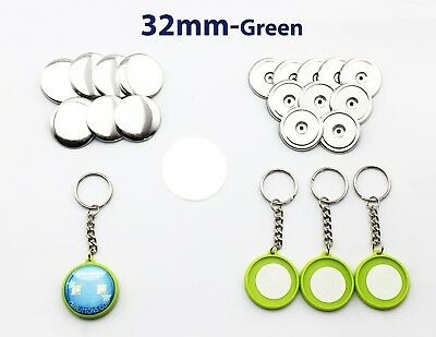 """32mm(1.25"""") 100sets Double-sides Keychain Button Badge Part for Button Maker"""