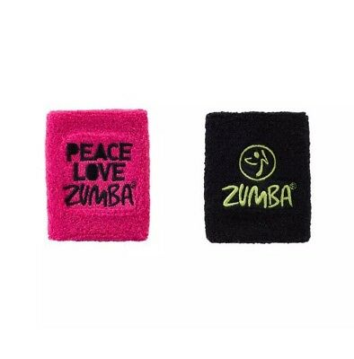 Zumba  Peace, Love Zumba wrist bands - 2 Pack. New In Package & Free Shipping..