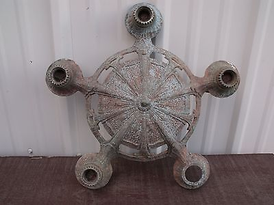 1920's Antique Vintage ART DECO LINCOLN Cast Ceiling 5 Light Fixture Chandelier
