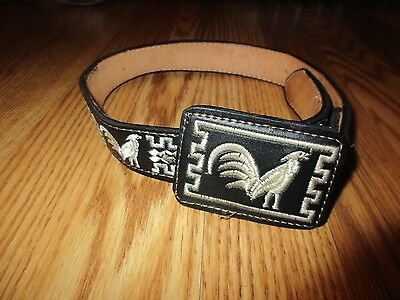 talabarteria leather Child's belt size 22 great condition#