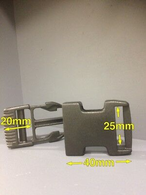 Webbing Buckles Webbing Clip Black Plastic for 25mm Strapping