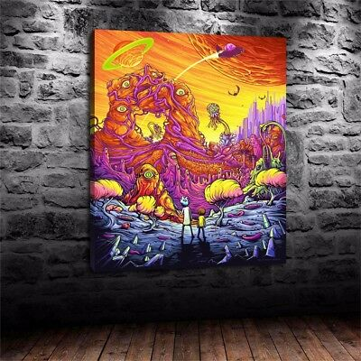 """HD Print On Canvas Oil Painting Art Home Decor:Rick And Morty 16x20""""/Unframed"""