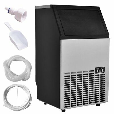 Costzon Built-In Stainless Steel Commercial Ice Maker Portable Ice Machine